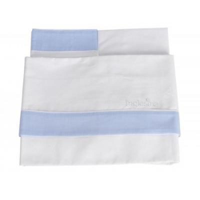 inglesina Комплект белья для люльки INGLESINA Белый/светло-голубой (4734)