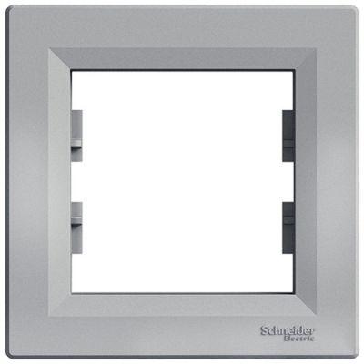 Рамка 1 пост Schneider Electric Asfora Алюминий (EPH5800161)