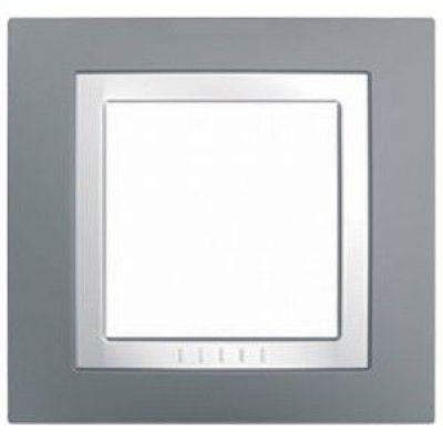 Рамка 1 пост Schneider Electric Unica Basic Серый(бел) (MGU2.002.858)