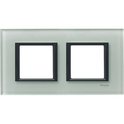 Рамка 2 поста Schneider Electric Unica Class матовое стекло(стекло) (MGU68.004.7C3)