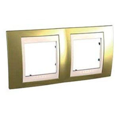 Рамка 2 поста Schneider Electric Unica Top Золото(слоновая кость) (MGU66.004.504)