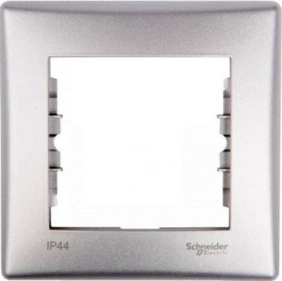 Рамка 1 пост Schneider Electric Sedna Алюминий (SDN5800160)