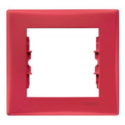 Рамка 1 пост Schneider Electric Sedna Красный (SDN5800141)