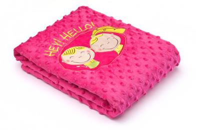 Sensillo Плед Hey! Hello! Pink (23214)