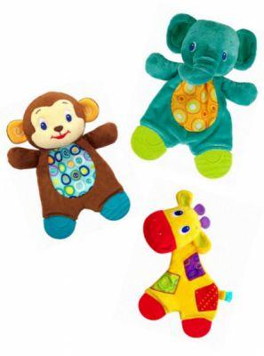 Kids II Плюшевые игрушки-прорезыватели Мягкие друзья 3 в асс. (8916)