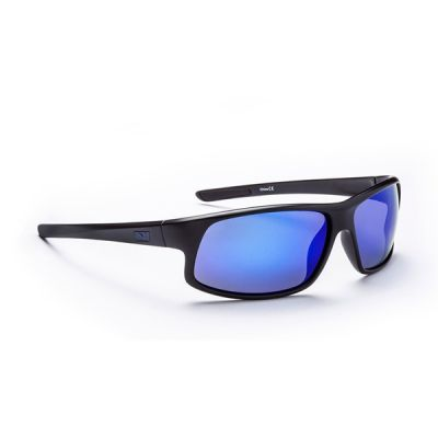 Optic nerve avenger matte black (polarized smoke)