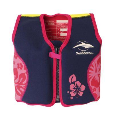 Konfidence Плавательный жилет Original Jacket,Navy/Pink/Hibiscus, L/ 6-7 г (KJ05-B-07)