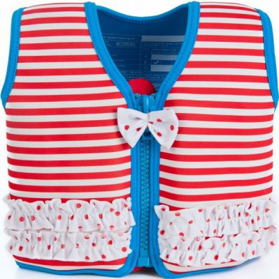 Konfidence Плавательный жилет Original Jacket, Red Stripe, M/ 4-5 г (KJ16-C-05)