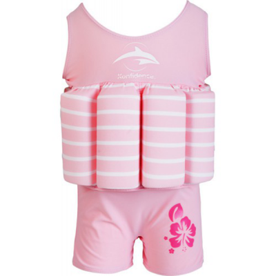 Konfidence купальник-поплавок floatsuits, pink stripe, m/ 2-3 г (fs02sc)
