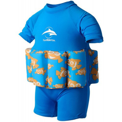 Konfidence купальник-поплавок floatsuits, clownfish, l/ 4-5 г (fs03-b-05)