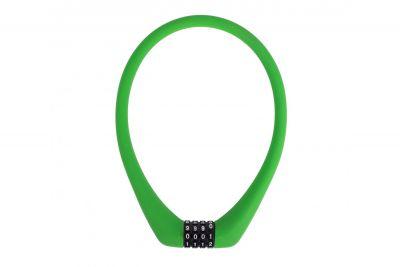 Замок Green Cycle GCL-SC1 кодовый, трос 50см x 12мм в силиконовой обойме Зеленый