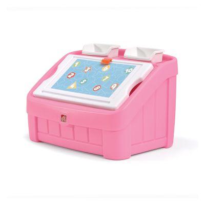 2 в 1: комод для игрушек и поверхность для творчества BOX & ART, 48х78х48см, розовый
