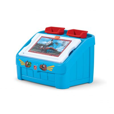 2 в 1: комод для игрушек и поверхность для творчества THOMAS THE TANK. BOX & ART, 48х78х48см, голубой