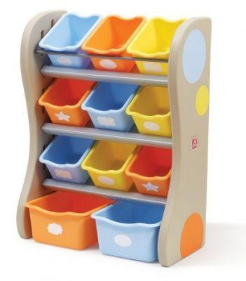 Органайзер с разноцветными ящиками FUN TIME ROOM ORGANIZER, 89х67х36 см, синий/оранжевый