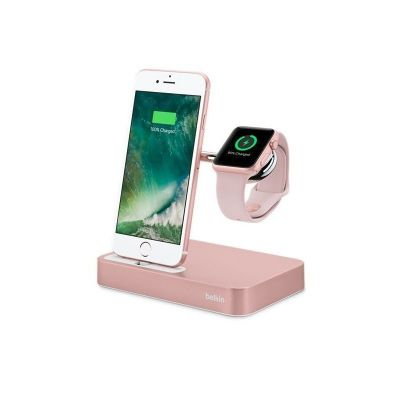 belkin Belkin Charge Dock iWatch + iPhone Rose Gold (F8J183vfC00)