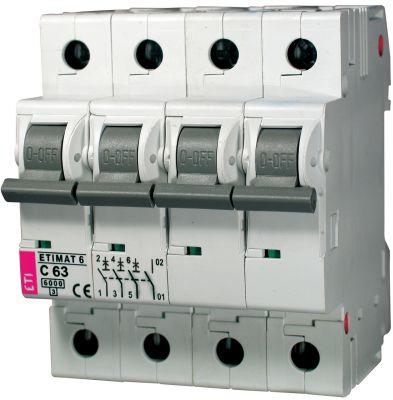 ETI Автоматический выключатель MAT 6 3p+N 63А C 6кА (2146522)
