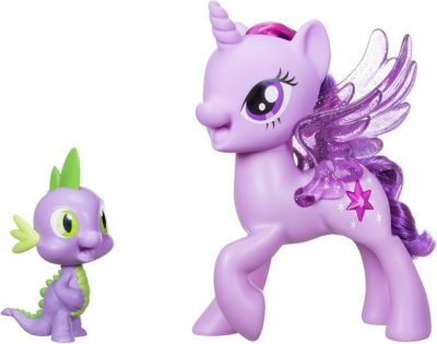 HASBRO My Little Pony Сияние Поющая Твайлайт Спаркл и Спайк (C0718)