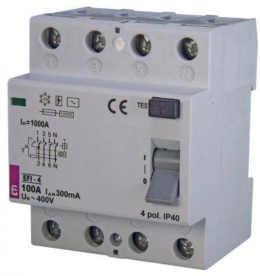 ETI (УЗО) EFI-4 100/0,3 тип AC (10kA) (2062155)