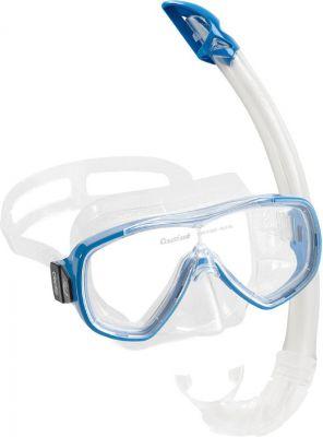 CRESSI-SUB Onda Mare (маска + трубка) прозраачный/синий (DM1010152)